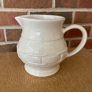 RARE Longaberger Pitcher Ivory USA 2 Quart Ceramic
